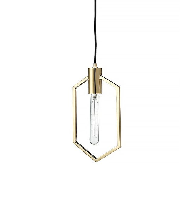 CB2 Geometric Brass Pendant Light
