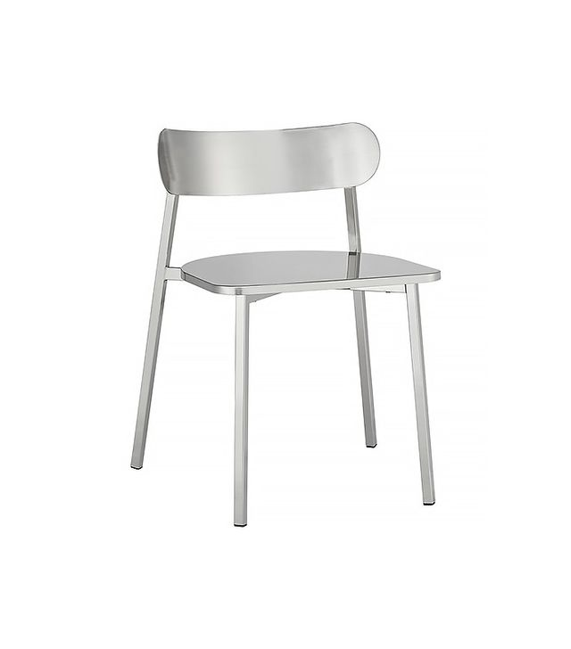 CB2 Fleet Brushed Nickel Chair