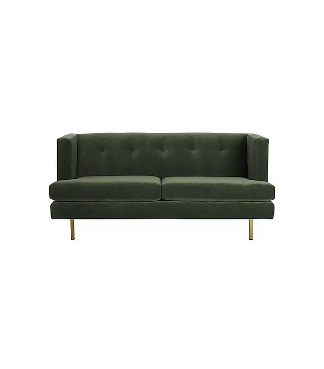 CB2 Avec Apartment Sofa With Brass Legs