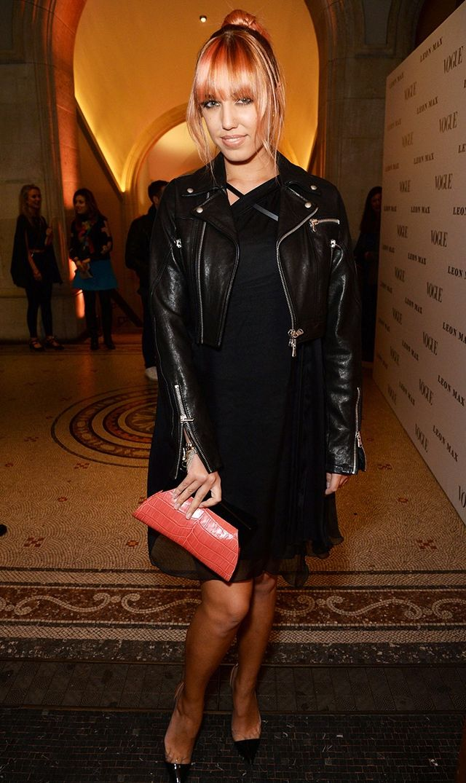 On Amber Le Bon:Leon Max dress.
