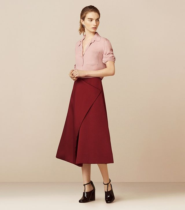 Finery Belshaw Fold A-Line Skirt