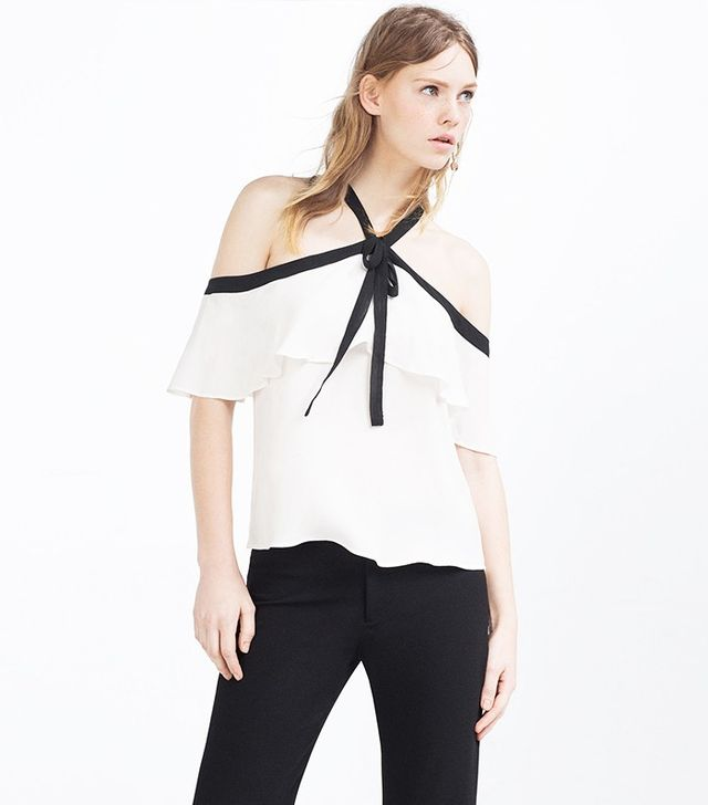 Zara Frilled Halterneck Top