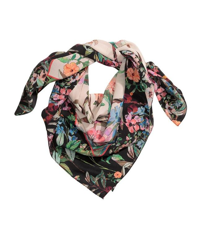 H&M Patterned Silk Scarf