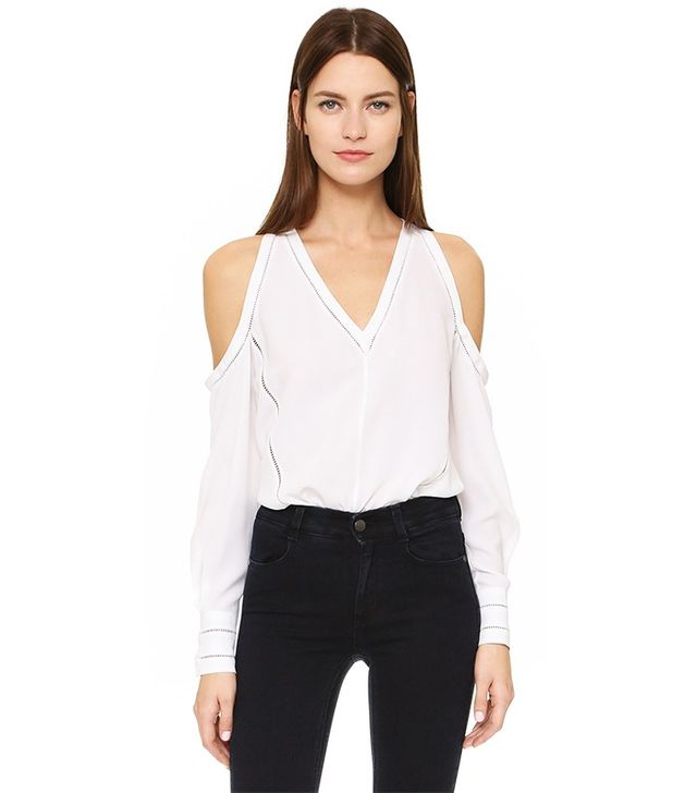Yigal Azrouel Cold Shoulder Blouse