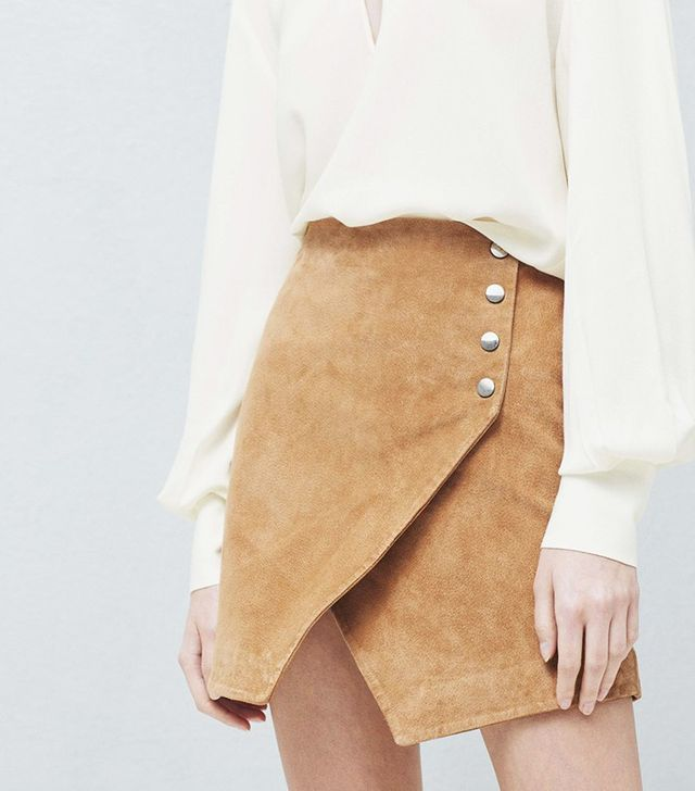 Mango Suede Wrap Skirt