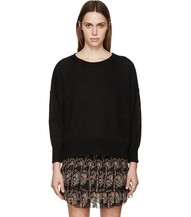 Isabel Marant Étoile Black Alpaca Risha Sweater