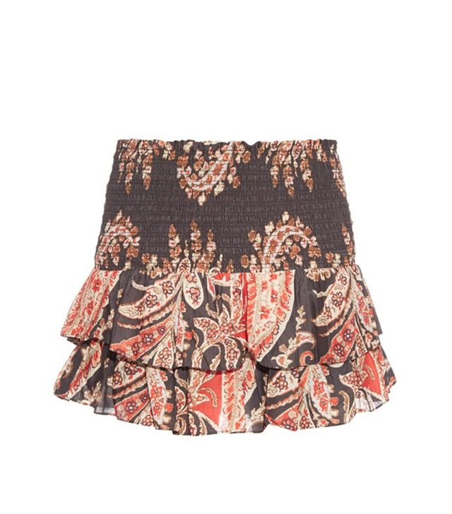 Isabel Marant Étoile Shanon Ruffle-Hem Printed Skirt