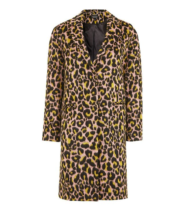 Topshop Leopard Coat