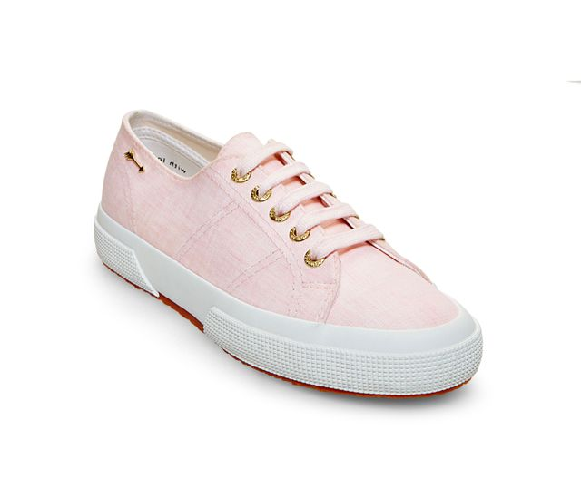 Superga x Jennifer Meyer Linen Sneakers in Pink