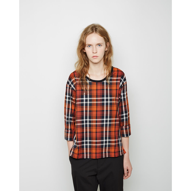 Margaret Howell Plaid Cotton Top