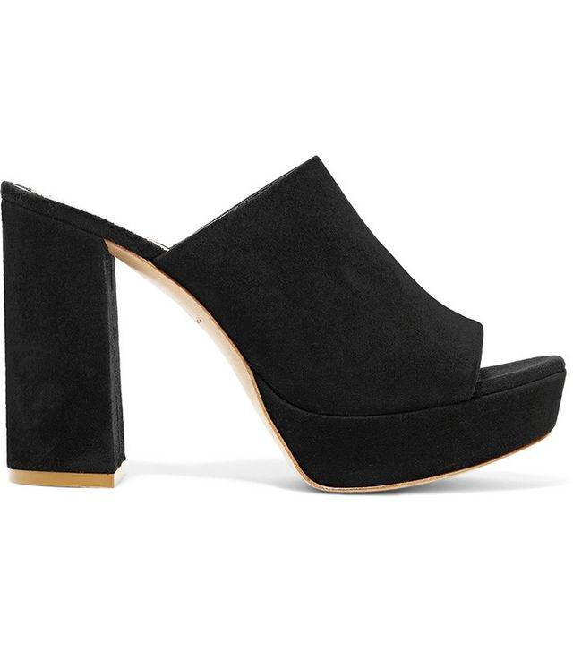 Mansur Gavriel Suede Platform Sandals in Black