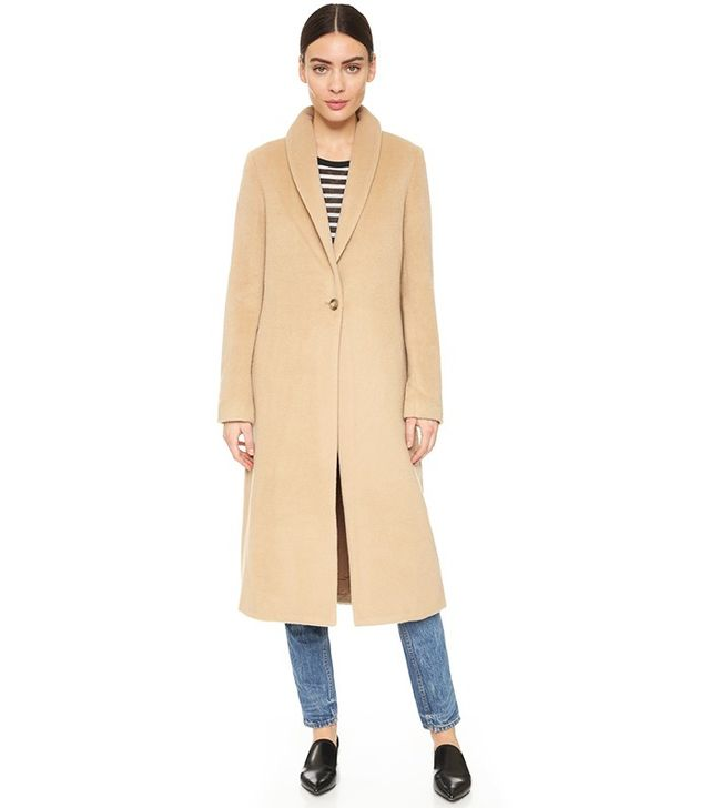 T by Alexander Wang Shawl Collar Long Coat