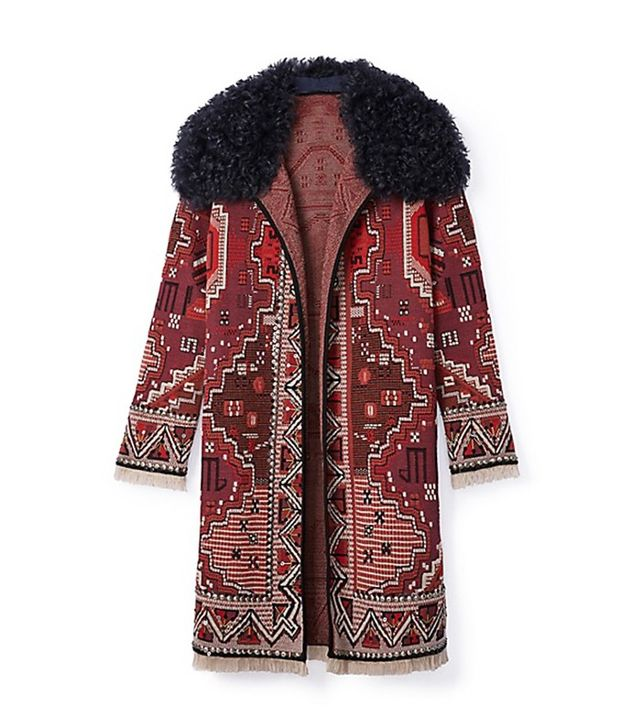 Tory Burch Embellished Long-Sleeve Coat