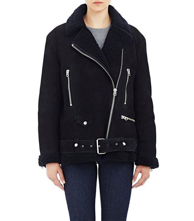 Acne Studios Shearling More Moto Jacket