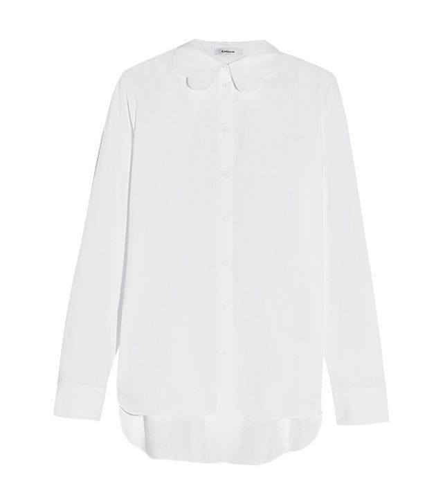 Carven Scalloped Cotton-Poplin Shirt