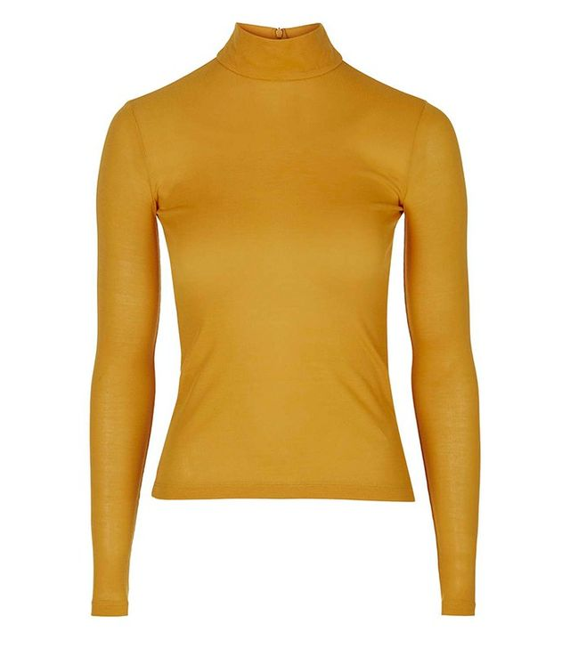 Topshop Jersey Roll Neck Top