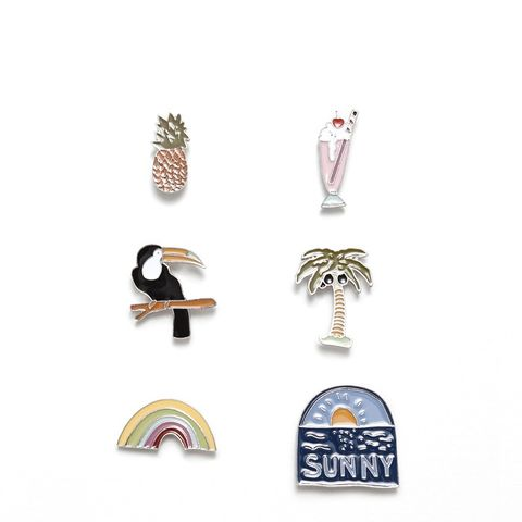 Pack of 6 Tropical Badges
