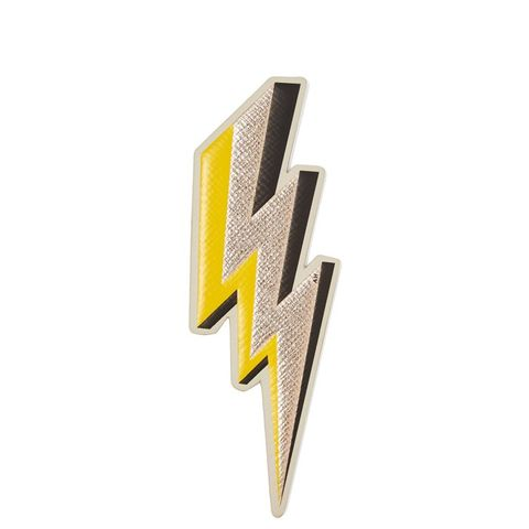 Lightening Bold Metallic Textured-Leather Sticker
