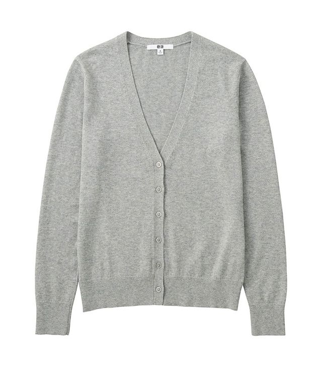Uniqlo Cotton Cashmere V-Neck Cardigan