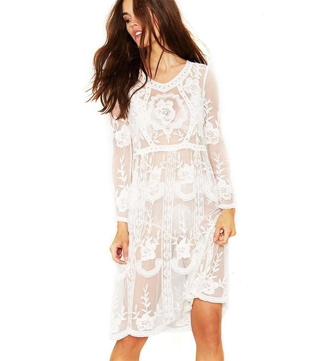 Nasty Gal Tavia Lace Midi Dress