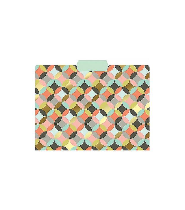 Paper Source Geometric Circles Gold Foil File Folders