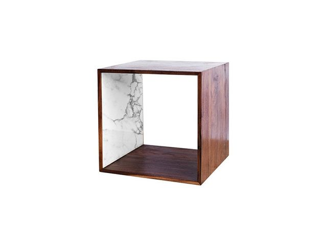2131 Collection Walnut and Marble Storage Cube