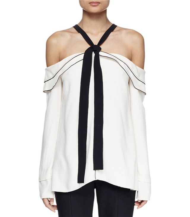 Proenza Schoulder Long-Sleeve Off-the-Shoulder Blouse