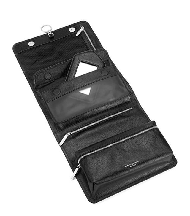Aspinal of London Men's Leather Hanging Wash Bag
