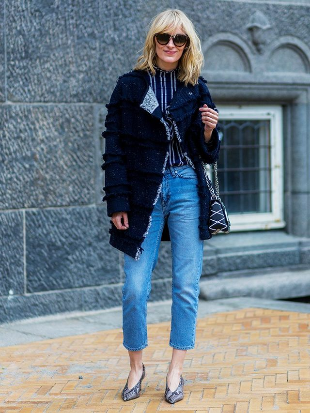 Monochrome Patterns + True Blue Denim
