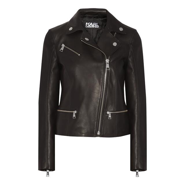 Karl Lagerfeld Iconic Odina Leather Biker Jacket