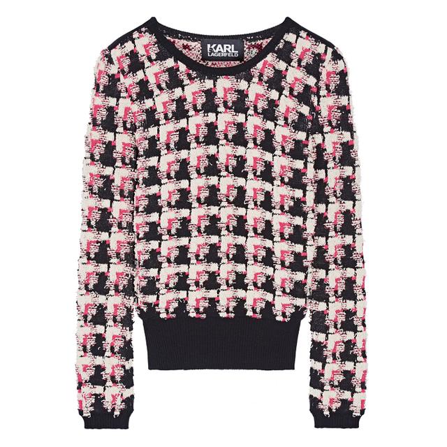 Karl Lagerfeld Stretch-Bouclé Sweater