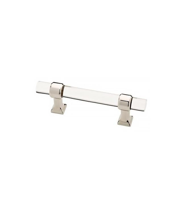Liberty 3 In. (76mm) Polished Nickel and Clear Acrylic Bar Pull