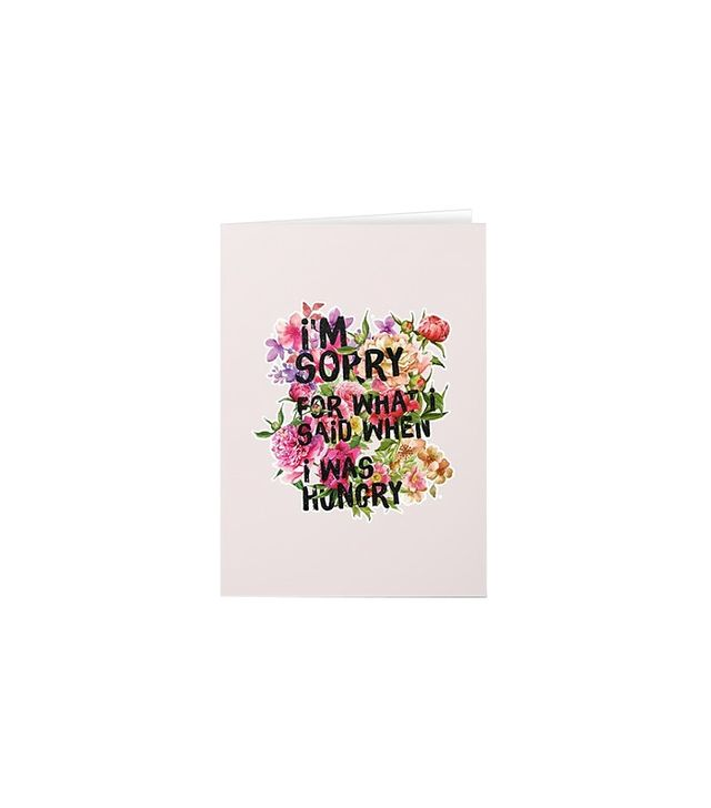 "Society 6 ""I'm Sorry for What I Said When I Was Hangry"" Stationery Cards"