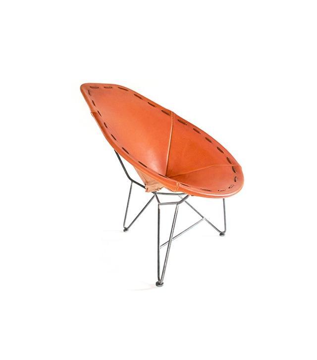 Garza Marfa Leather Oval Chair