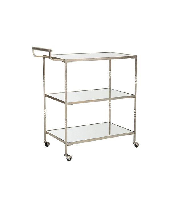 One Kings Lane Andrei Bar Cart in Silver