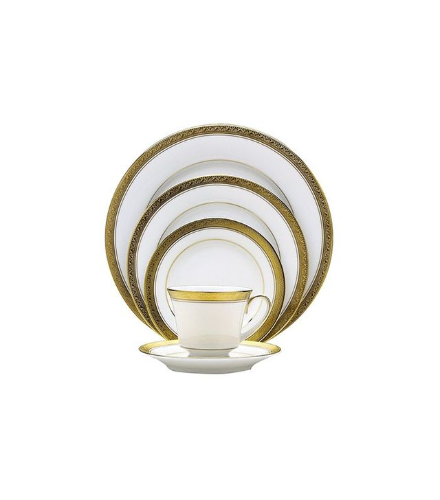 Noritake Crestwood Gold China 5-Place Place Setting