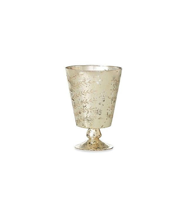 Bed Bath and Beyond Etched Mercury Glass Hurricane
