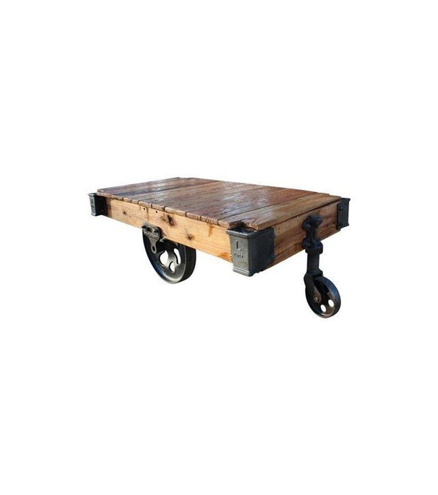 Chairish Vintage Lineberry Coffee Table Cart