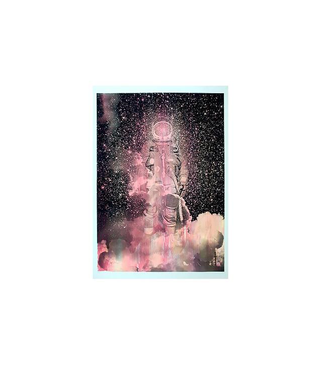 Tind Silkscreen Spaceman Silkscreen Poster