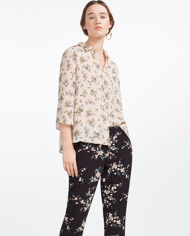 Zara Printed Floral Shirt