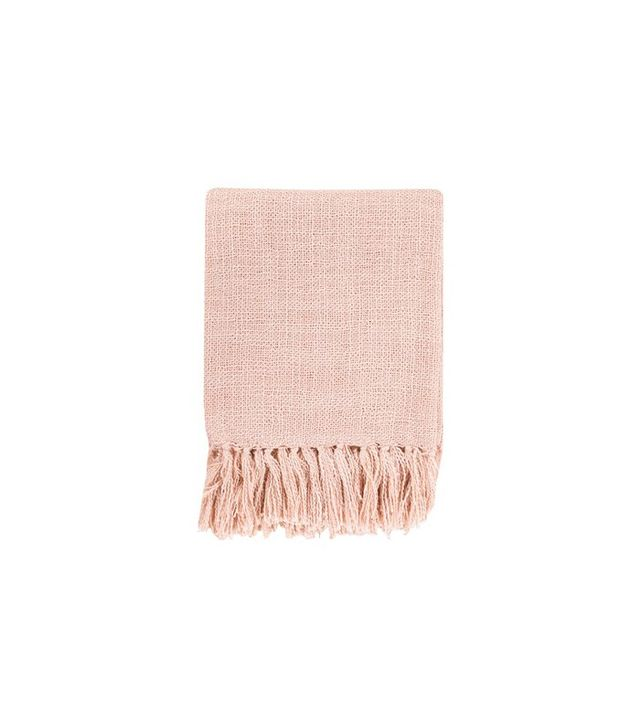 Surya Tilda Salmon Throw Blanket