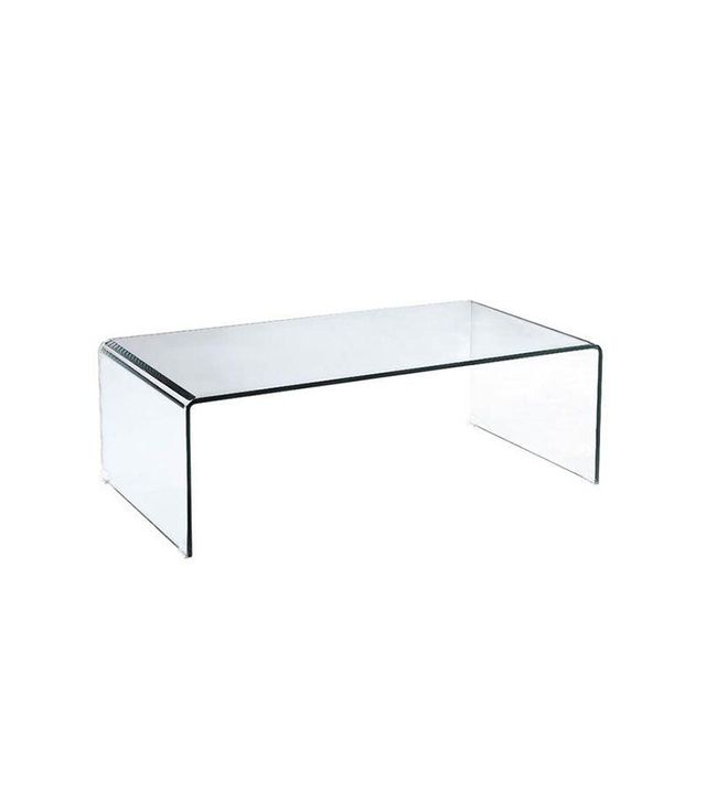 Beautiful Vintage Arch Waterfall Glass Coffee Table