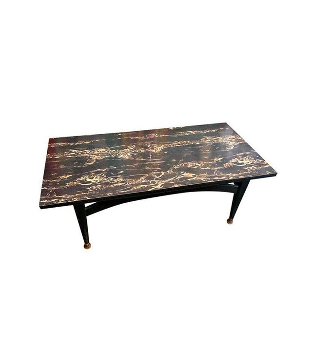 Luxury MCM Black Marble Formica Coffee Table