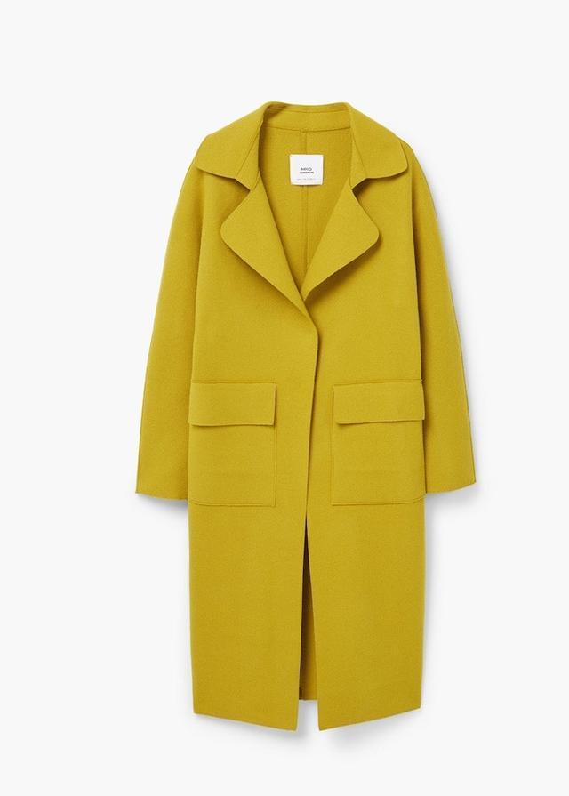 Mango Pockets Wool Coat