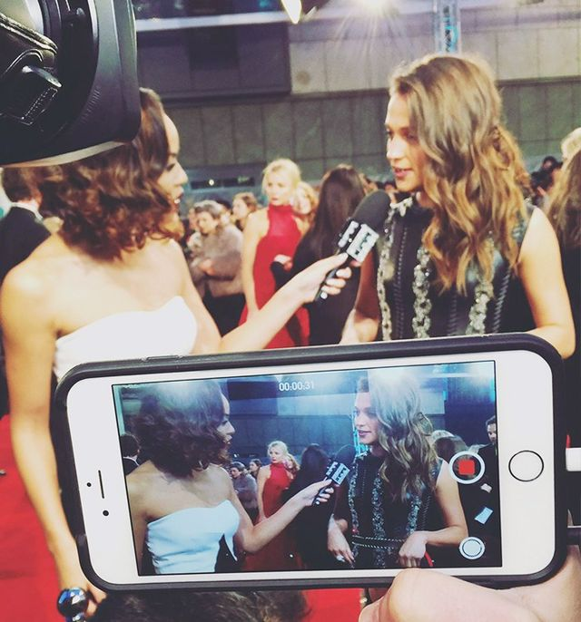 """Caught on all cameras—Alicia Vikander."""