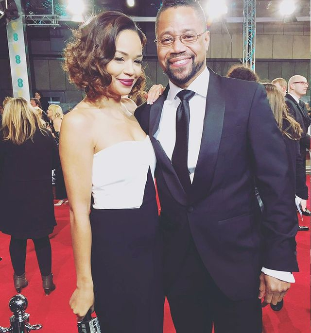 """Catching up with Cuba Gooding Jr. on the red carpet."""