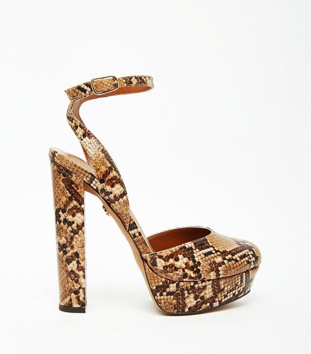 KG by Kurt Geiger Dixie Snake Effect Platform Shoes
