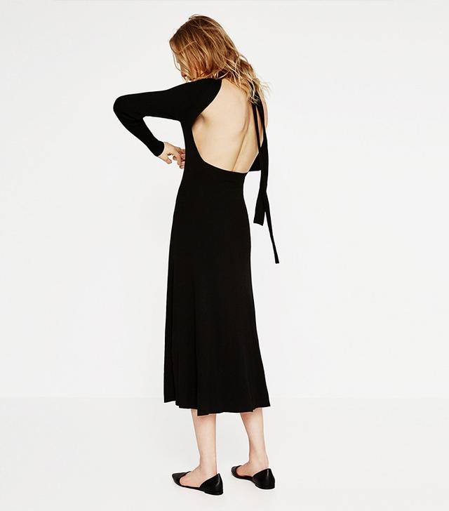 Zara Low Cut Back Dress