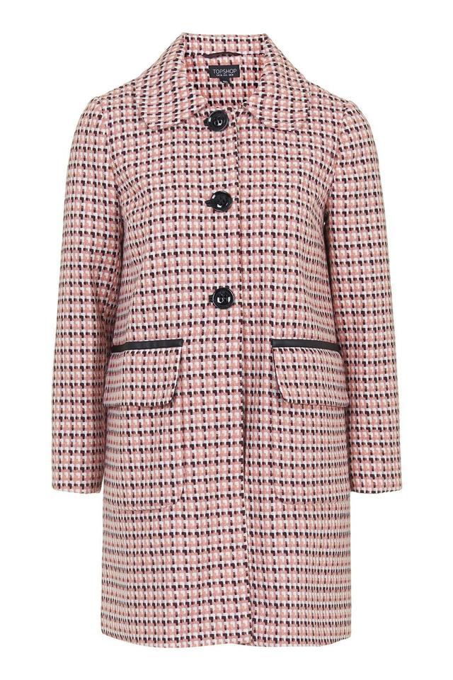 Topshop Geo '60s Girly Coat