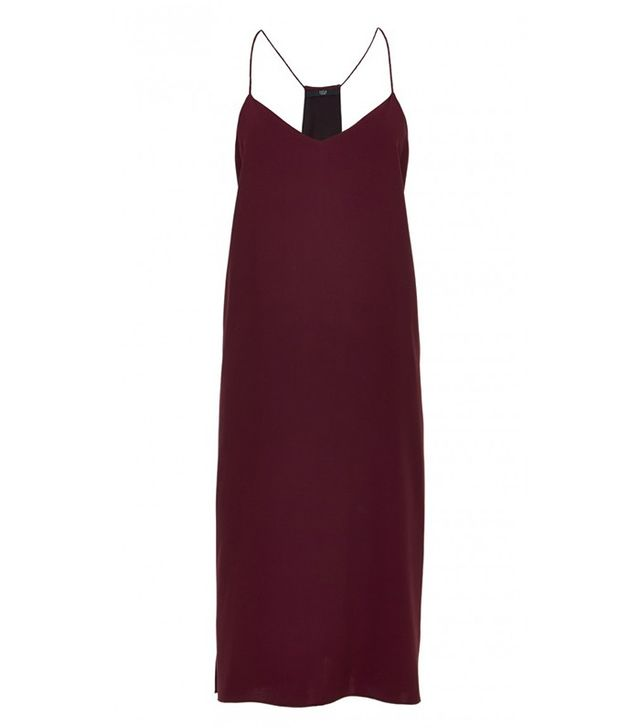 Tibi Satin Back Crepe Slip Dress